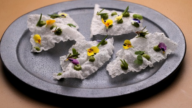 Light and lacy tapioca crisps