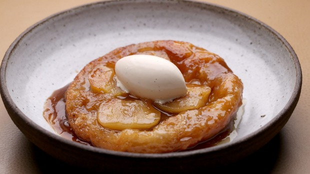 Golden apple tarte tartin