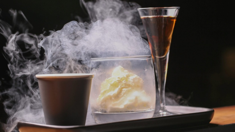The liquid nitoogen affogato served at MPD Steak Restaurant