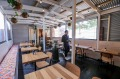 MELBOURNE, AUSTRALIA - AUGUST 24: The back dining room at Small Axe Kitchen in Brunswick on August 24, 2016 in ...