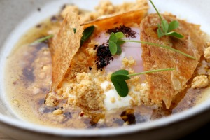 Go-to dish: Cilbur (egg with smoked yoghurt and chicken crackling).