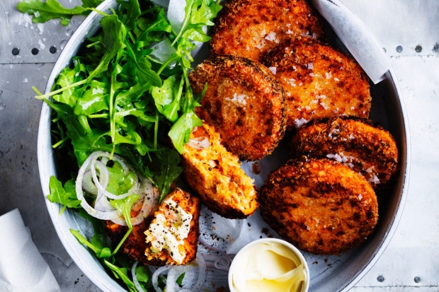 Salmon and sweet potato patties <a ...
