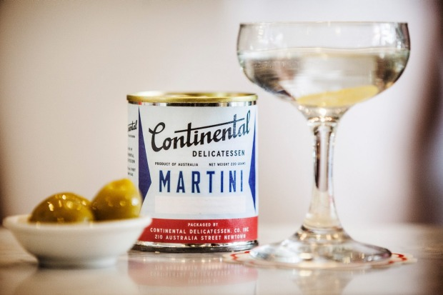 The martinny at Continental Deli Bar Bistro.