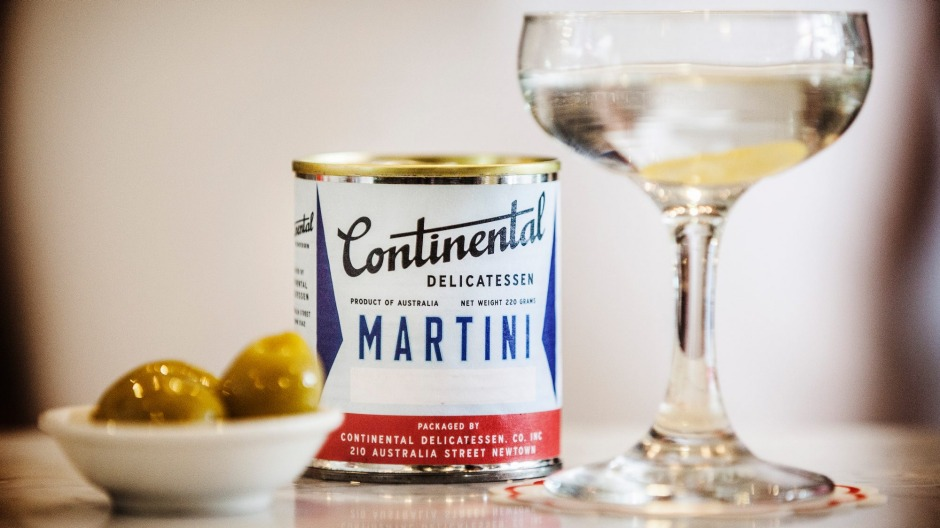 A mar-tinny at Continental Deli Bar & Bistro in Newtown.