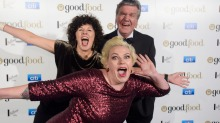Jill Dupleix, Terry Durack and Myffy Rigby at the SMH Good Food Guide awards.