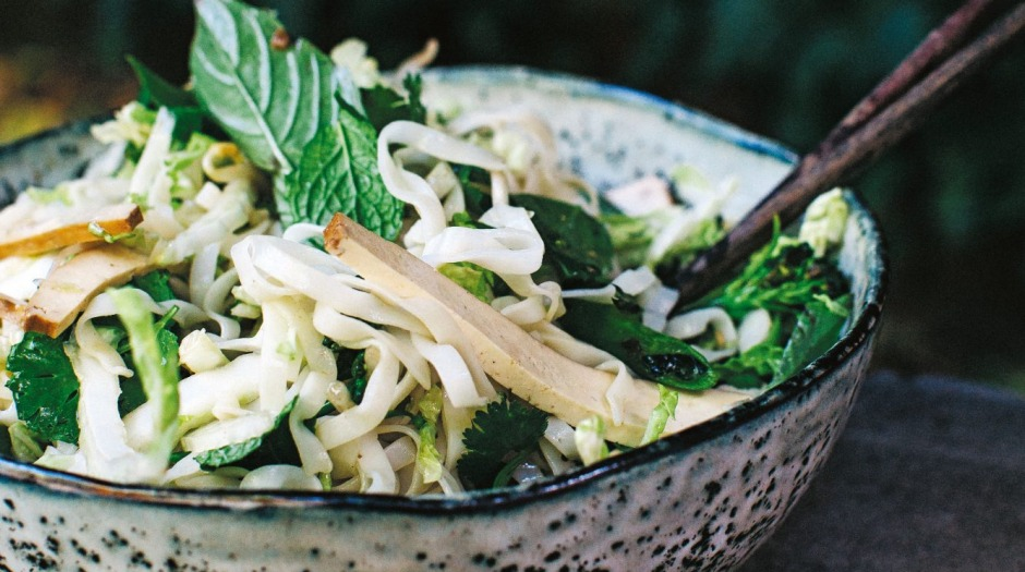 The pho noodle salad from <i>Neighbourhood</I> is a vegetarian and gluten-free spin on the beefy  Vietnamese broth.