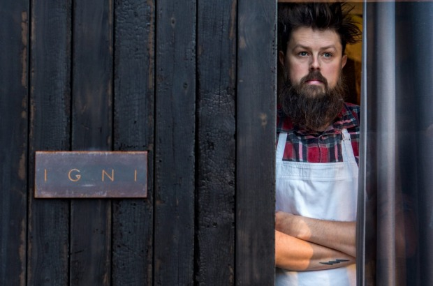 Citi Chef of the Year: Aaron Turner from Igni in Geelong.