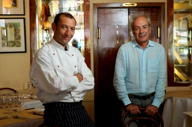 Vittoria Coffee Legends Geraud Fabre (left) and Jean-Paul Prunetti from French restaurant France-Soir.