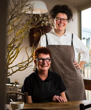 Fig Cafe owners Vicky Falconer (seated) and Julia Bandelli.