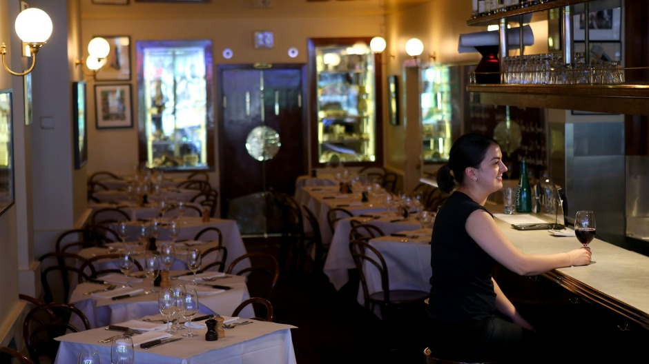 French restaurant France-Soir in South Yarra.