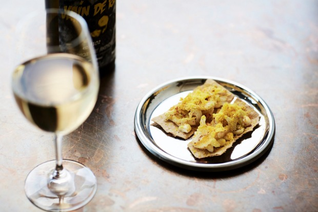 Wine and snacks at Andrew McConnell's Fitzroy wine bar Marion.