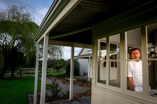 Vittoria Coffee Restaurant of the Year: Brae, Biregurra. Owner-chef Dan Hunter pictured at the property which now ...