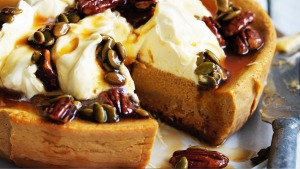 Adam Liaw's slow-cooker winner: Pumpkin pie cheesecake.
