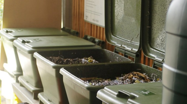 Bins are put to better use at the food garden at Mesa Verde.