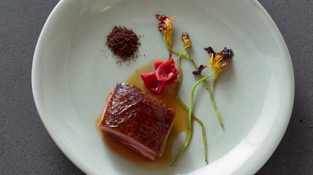 A duck dish at Brae.