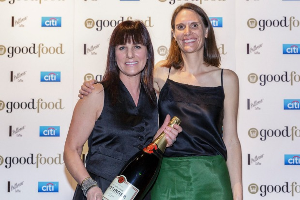 Citi Service Excellence award winner Caterina Borsato (left) from Caterina's Cucine e Bar with Tanya Smith from Citi.