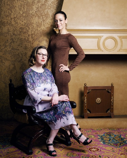 Epicure Espresso columnist Nola James (seated) and The Age Melbourne Fashion and Lifestyle Editor, Melissa Singer.