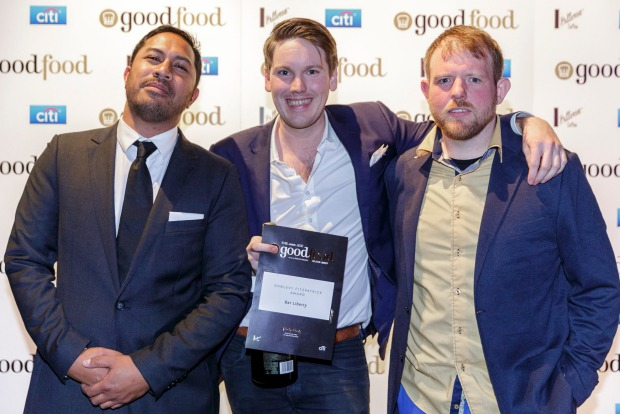 The team from Bar Liberty, winner of the Don Levy Fitzpatrick Award (for restaurant-quality food in a bar setting). ...