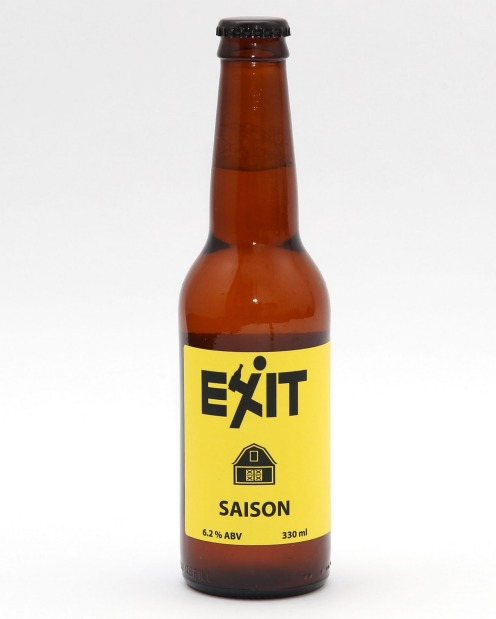 Exit Brewing's saison is reminiscent of banoffee pie.