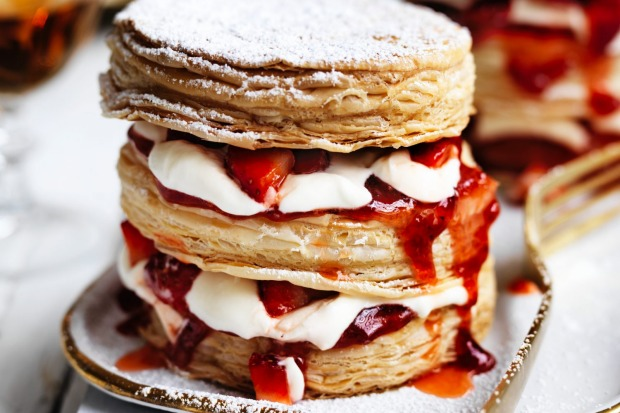 Stacks on! Adam Liaw's deceptively simple strawberry millefeuille <a ...