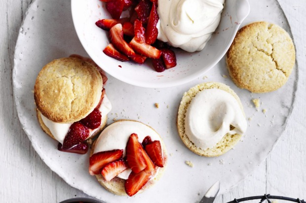 Strawberry and cream shortcakes <a ...