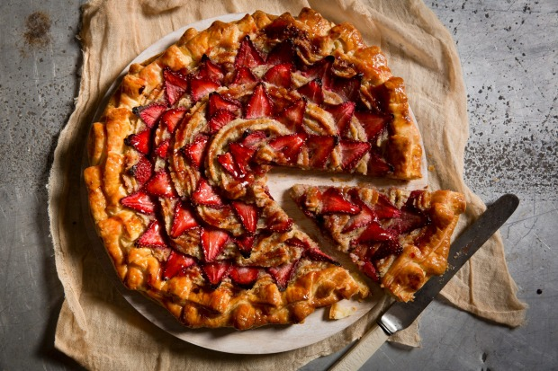 Karen Martin's free-form strawberry galette <a ...