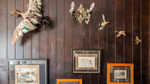 Feathered taxidermy flies east for the spring.