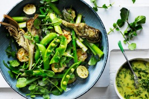 Keep them fresh: Adam Liaw's spring greens salad.