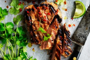 Adam Liaw's Thai coconut and chilli pork steaks.