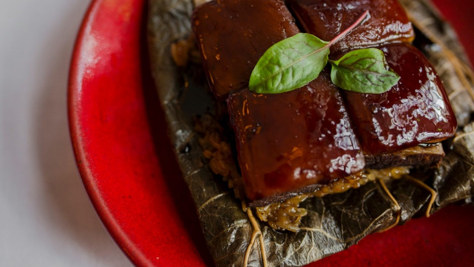 Go-to dish: Pork belly in lotus leaf.