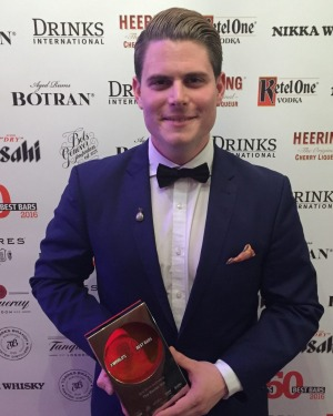 James Irvine from Baxter Inn at the World's 50 Best Bars awards in London.