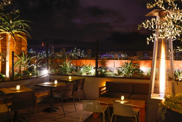 You can glance over the city skyline at the newly refurbished rooftop bar at The Light Brigade.