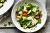 Neil Perry's spinach gnocchi with peas, zucchini, goat's curd and tarragon <a ...