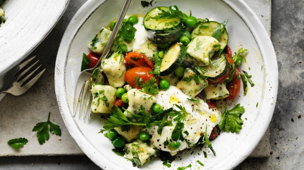 Neil Perry's spring spinach gnocchi.
