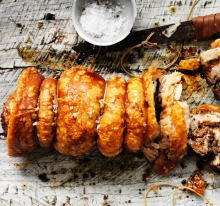 Belly porchetta with fennel, sage and chilli_8209 PHOTO William Meppem for THE AGE EPICURE