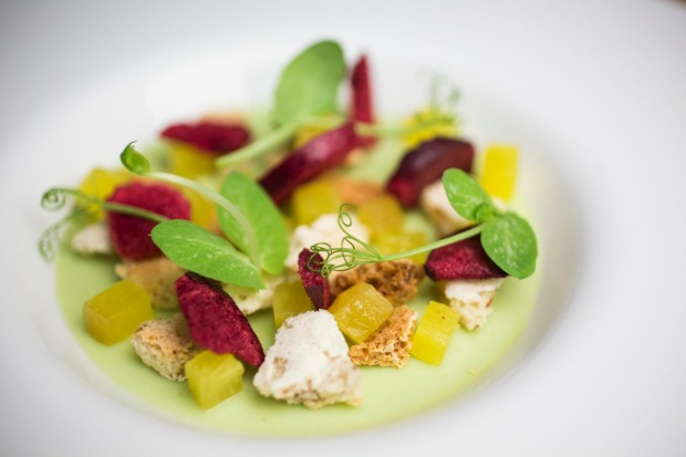 Cliche-free: green pea panna cotta at <a ...