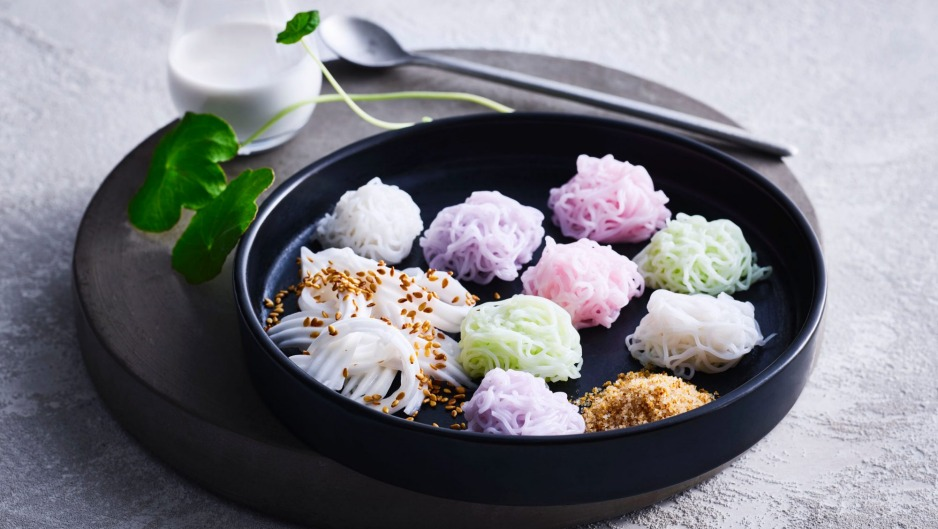 One of the traditional palace desserts that's on the menu at Chat Thai's newest branch