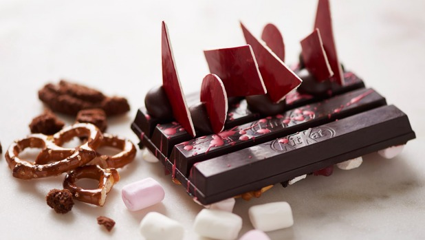 Customers can select from dozens of ingredients and see their customised Kit Kat being made.