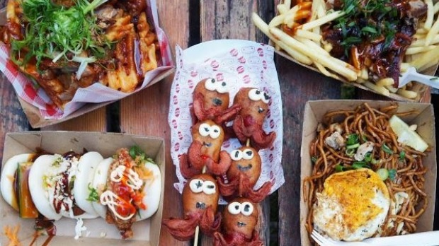 Some of the goodies on offer at the Sydney's Good Food Night Noodle Markets.