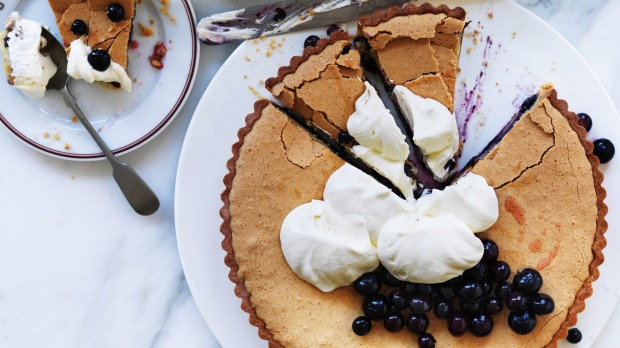 Neil Perry's slice of spring: Blueberry brown butter tart.