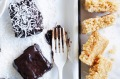 Adam Liaw's crunchy lamingtons (with rice bubbles).