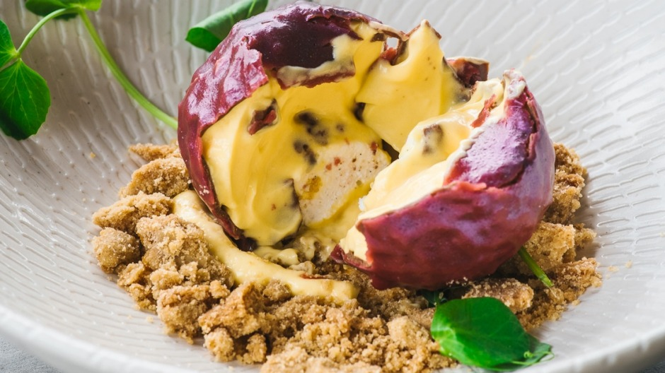 'Passionfruit picked from the vine' dessert at Lotus, Sydney, is a must-have.