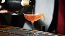 The Seelbach cocktail, made famous by <i>The Great Gatsby</i>.