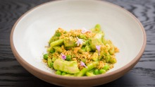 Casarecce with rabbit and peas at Fred's in Paddington.