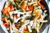 Adam Liaw's posh pasta salad with smoked salmon and cornichon pickles <a ...