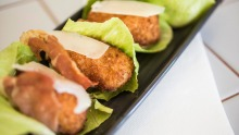 Chicken kiev meets potato gem: Chicken caesar croquettes.