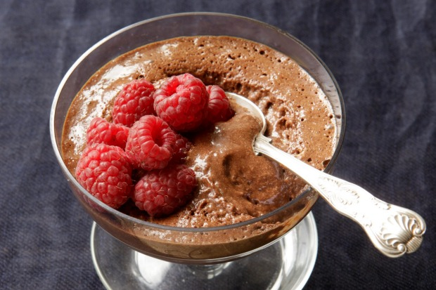 Chocolate mousse was the dessert du jour <a ...