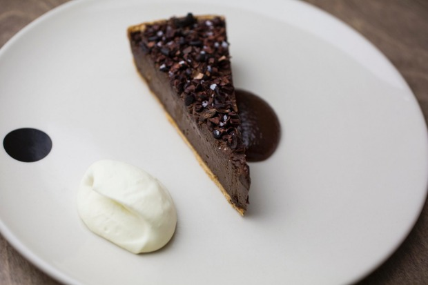 Chocolate and artichoke tart at <a ...