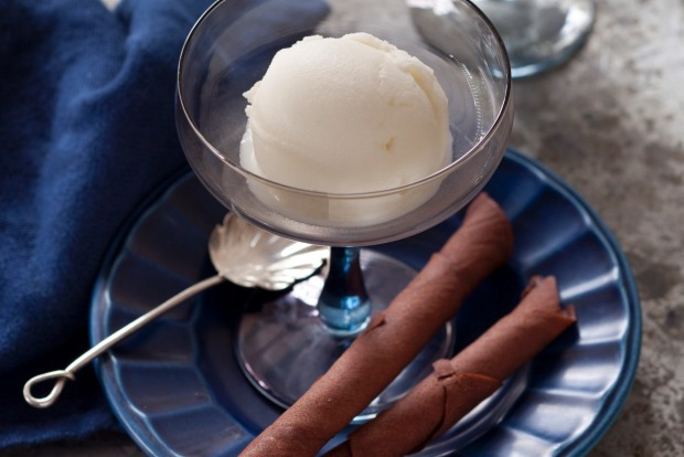 Or try this milk and mint sorbet with chocolate tuille instead <a ...