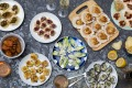 Three ingredient canapes for summer entertaining. Styling: Sharnee Rawson and Neela Shearer.